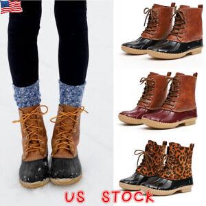 Womens-Ladies-Duck-Boots-Snow-Waterproof-Hiking-Walking-Hiker-Ankle-Rain-Shoes