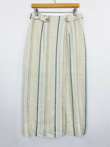 Vintage-Sport-Eight-Maxi-Skirt-Linen-Viscose-Blend-Natural-Boho-Size-14-Fit-10