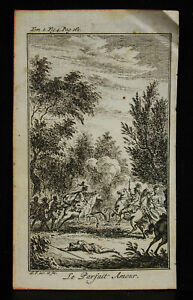 Original-Engraving-18th-the-Perfect-Love-S-F-Inv-and-Fec-Scene-of-Battle