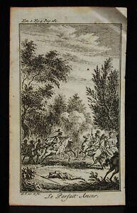 Original-Engraving-18th-the-Perfect-Love-S-F-Inv-and-Fec-Scene-of-Battle