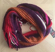 (NWT) Made of Me Women's Multi-Colored Fringed Long Scarf One Size