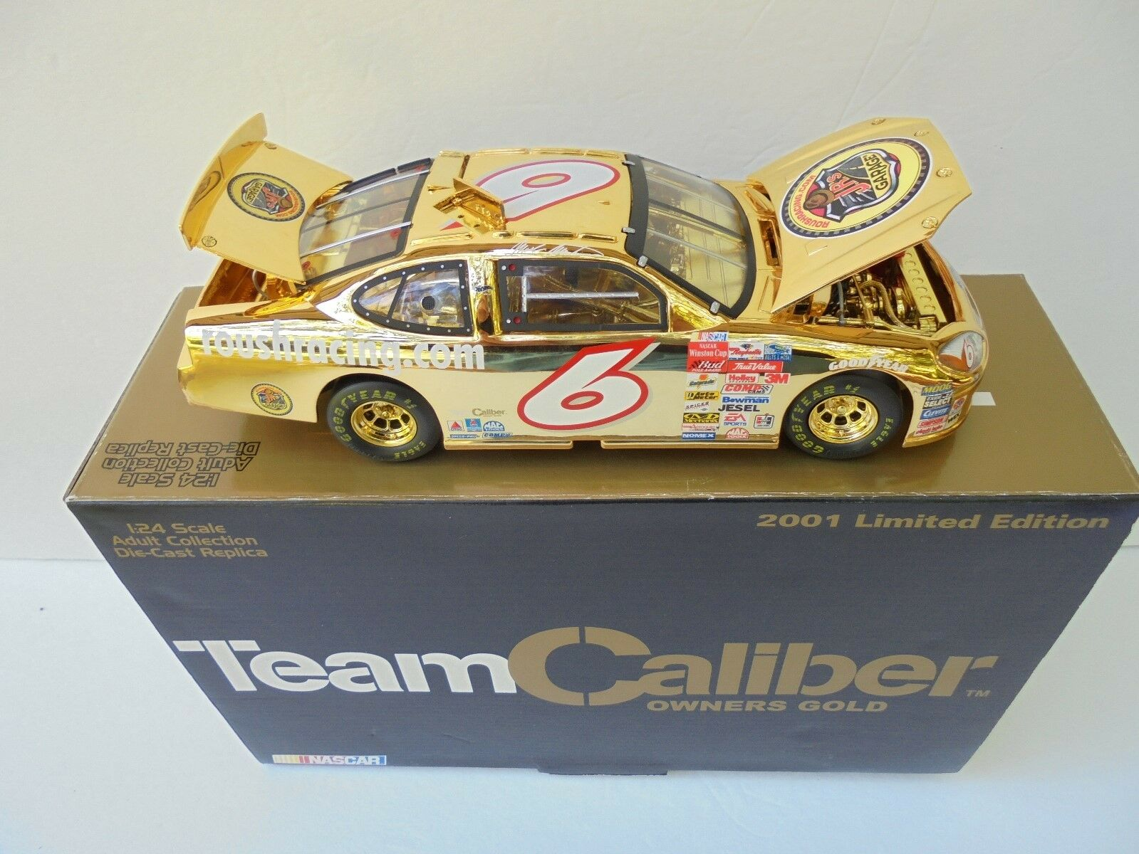 Mark Martin  6 JR's Garage 2001 TCOS oro Ford Taurus Nascar Diecast Collectible