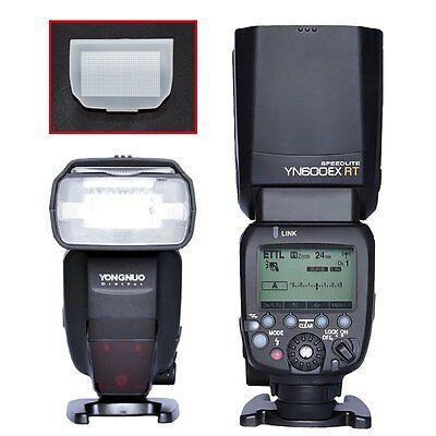 Yongnuo YN600EX-RT Master-Blitz Blitzgerät mit Diffusor für Canon 600EX-RT DE