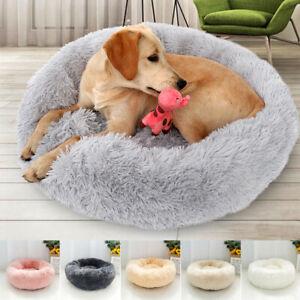 Pet-Dog-Cat-Calming-Bed-Round-Nest-Warm-Soft-Plush-Comfortable-Self-Sleeping-Mat