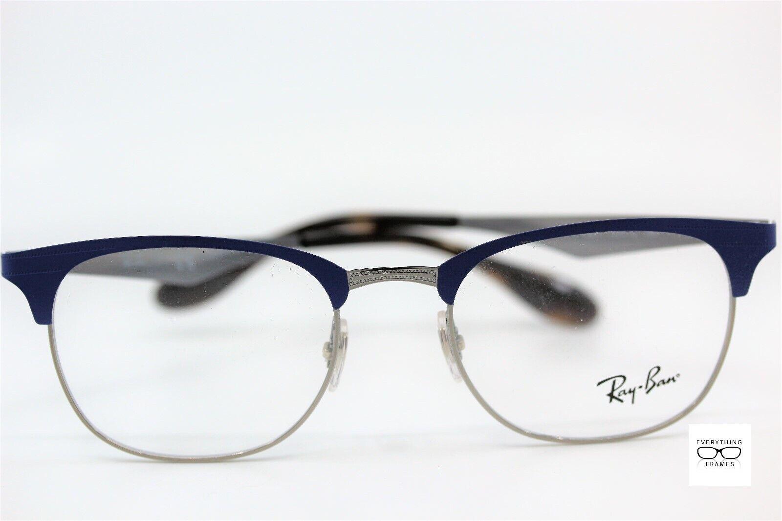 52885b5b7f Authentic Ray-Ban Eyeglasses Rb6346 2911 52mm Gunmetal Blue Frames ...