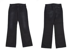 Nudie Slim Jim Lourd Utilisé Noir Jeans Jambe Droite Hommes Jean W34 L32