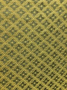 SAGE-GREEN-GOLD-FLORAL-DIAMOND-CHENILLE-UPHOLSTERY-BROCADE-FABRIC-54-in-BTY