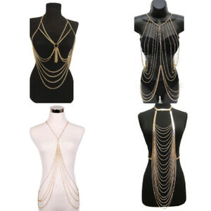 Sexy-Tassel-Crossover-Harness-Bikini-Body-Chain-Necklace-Waist-Belly-Rock-Women