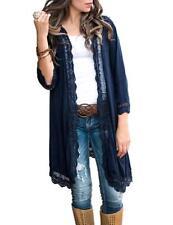 2c9606acb94 Boho Vintage Women's Lace Loose Shawl Kimono Cardigan Chiffon Coat Jacket  Blouse