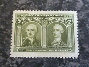 CANADA-POSTAGE-STAMP-SG192-SEVEN-CENTS-OLIVE-GREEN-LIGHTLY-MOUNTED-MINT