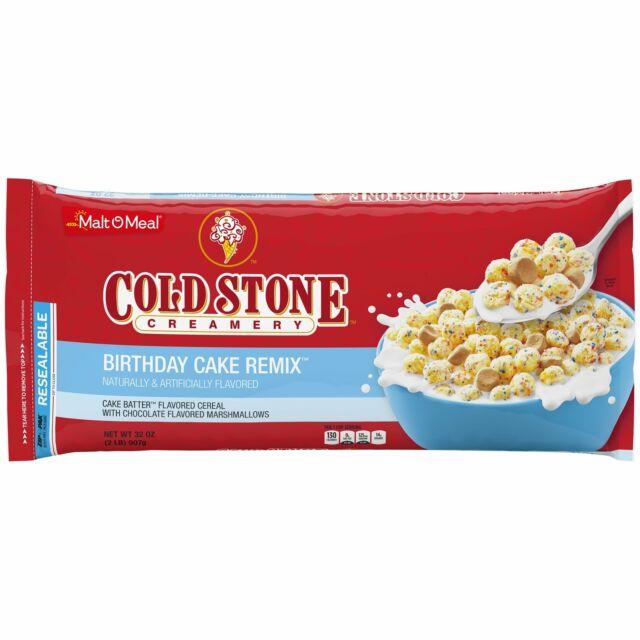 Remarkable Malt O Meal Cold Stone Birthday Cake Cereal 32 Oz Bag For Sale Funny Birthday Cards Online Elaedamsfinfo