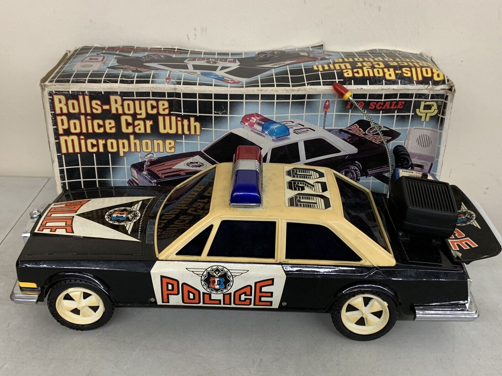 Rolls Royce Police Car with Microphone D & Y Toys 1 9 Scale DY-20M Vintage AS IS