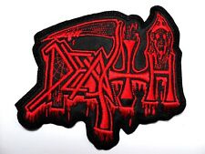 death old red  shaped logo    EMBROIDERED PATCH