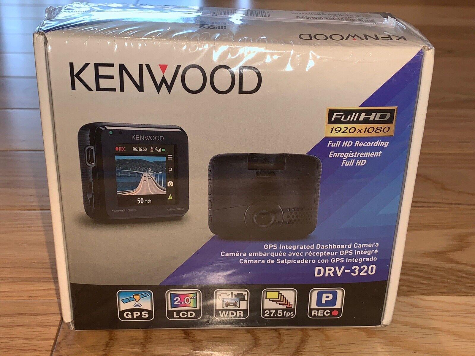 Kenwood DRV-320 Full HD Dash Cam Black NEW OPEN BOX