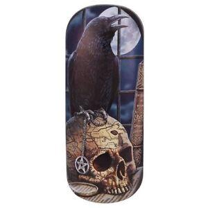 Lisa-Parker-Salem-Crow-Raven-amp-Skull-Pentagram-Fantasy-Gothic-Hard-Glasses-Case