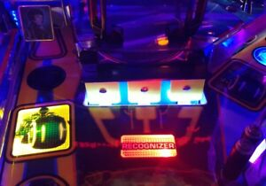 PURPLE Lighted Shooter Rod Plate Cover for TRON pinball machine LED mod