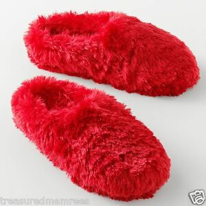 Plush Clog Slippers Scuffs  ~  Size Large (9-10) ~ Red ~ New With Tags