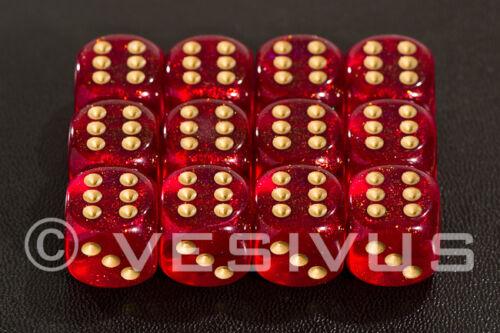 DICE Chessex Borealis MAGENTA 12d6 d6 Block Set Purple Clear Sparkle 27624 OOP