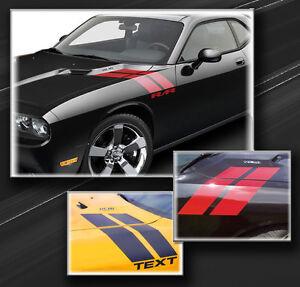 Dodge Challenger 2008-2021 Fender Hash Side Stripes Decals  (Choose Color)