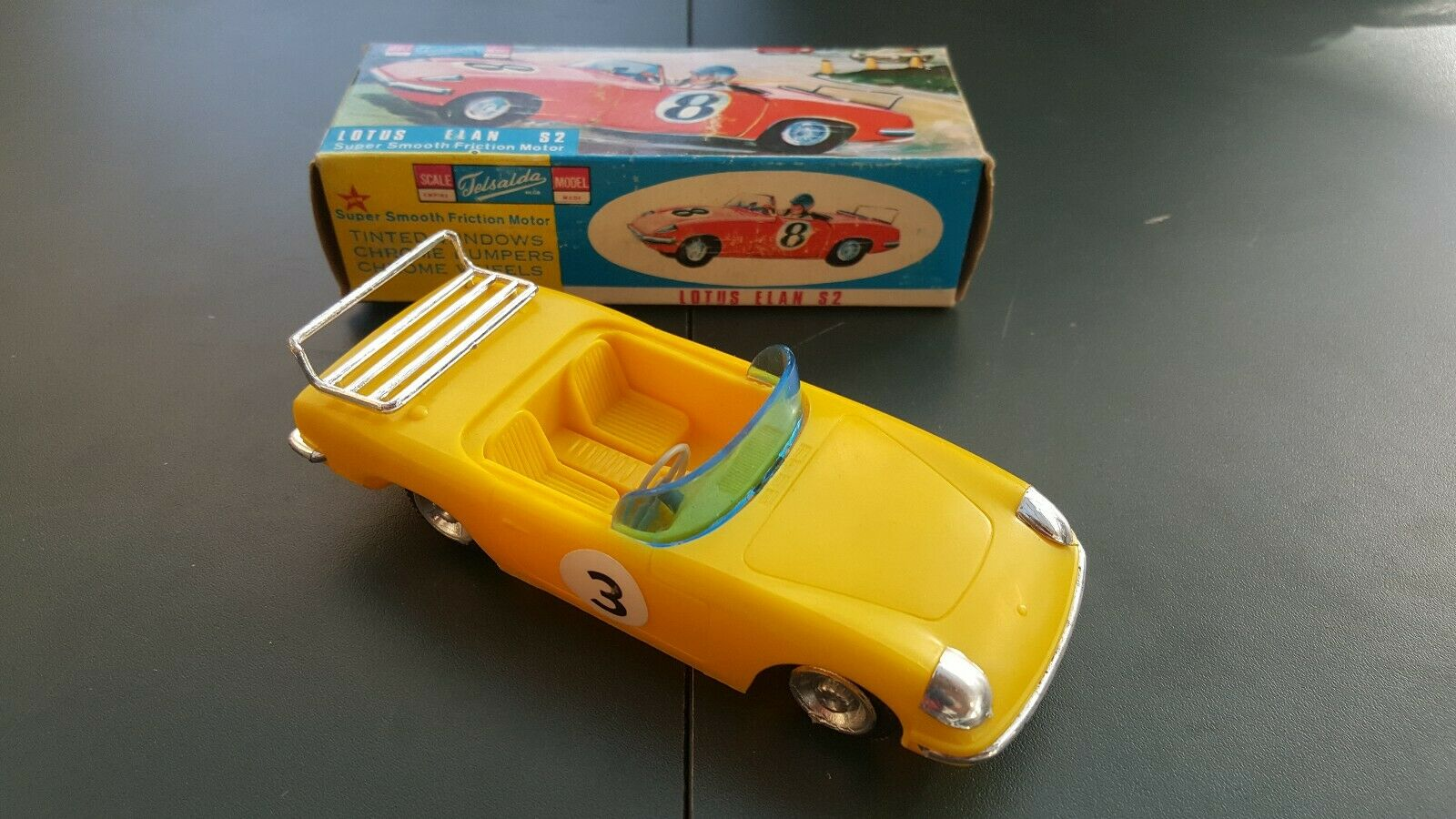 Telsalda Plastic Friction Lotus Elan S2. Boxed.  Made In Hong Kong, Rare