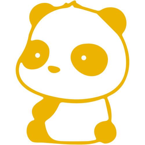 "Panda Sitting 4/"" Vinyl Decal Car Window Sticker bumper funny cute pandas"