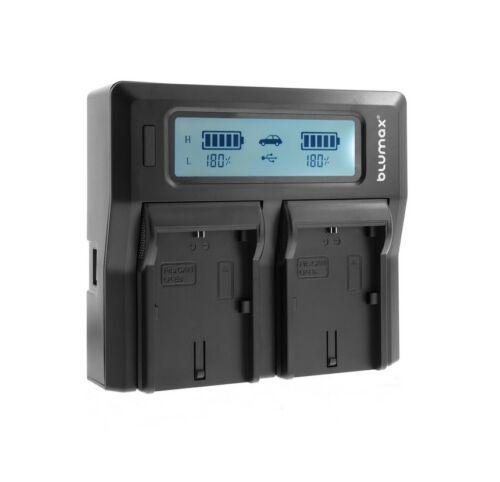 LP-E6 Dual LCD Cargador de batería para los modos de alta baja Canon EOS 5D Mark 3 4 70D 6D