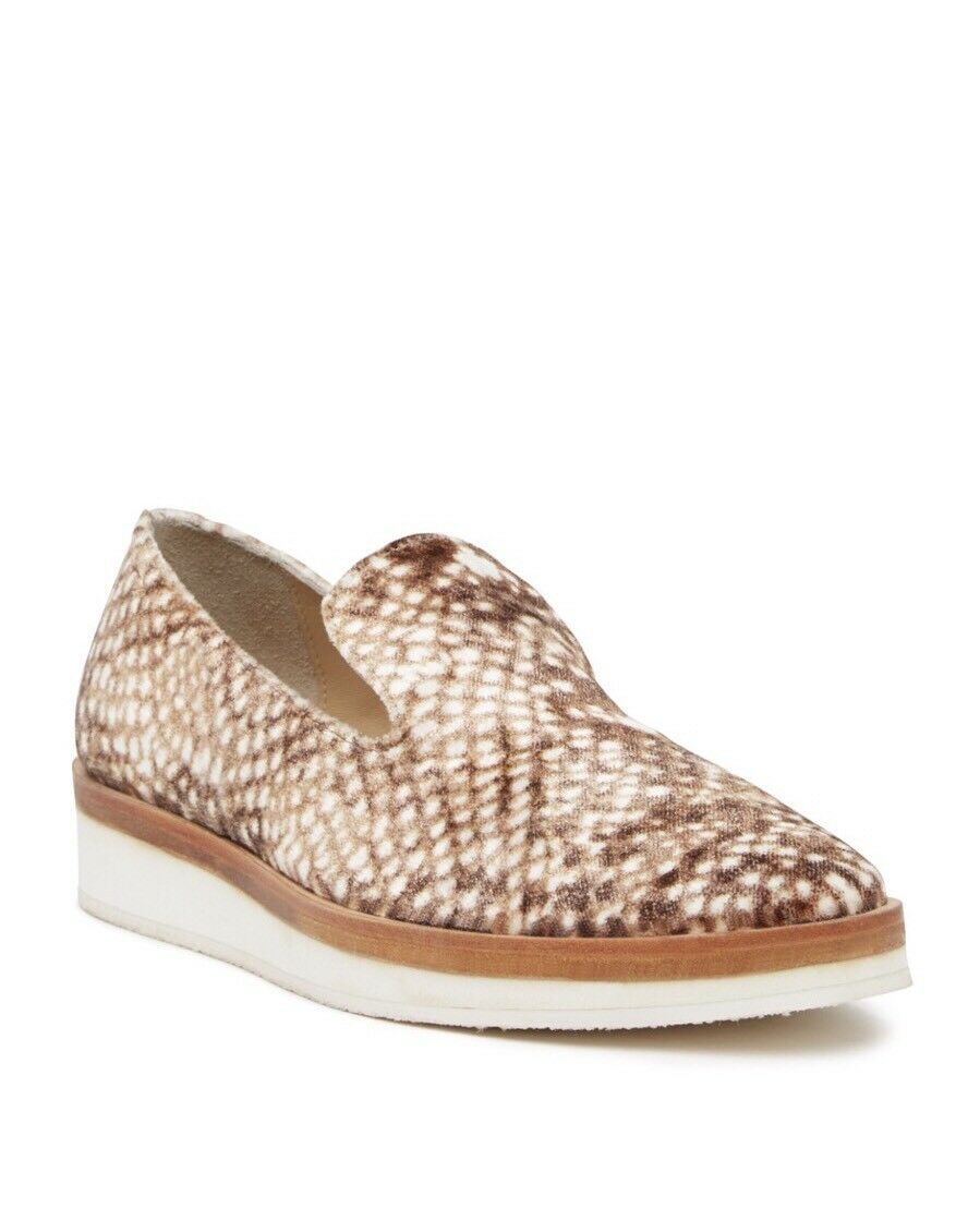 NEW FREE PEOPLE Sz 7.5 EU 38 donna's Snake Eyes Loafer Taupe,  128