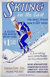 SCIARE-SULLE-DELL-039-EST-COAST-USA-Vintage-Viaggio-Sci-Poster-misure-A2-A3-A4