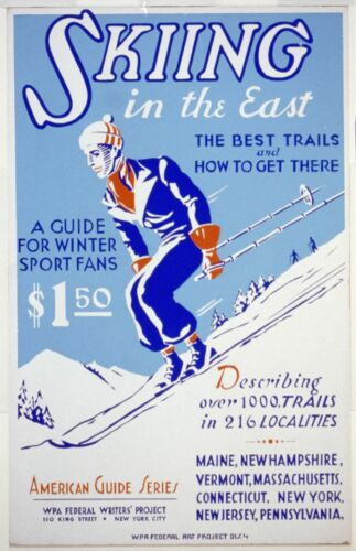 Skiing Poster A2A3A4Sizes Skifahren auf der Ostküste USA Vintage Reisen