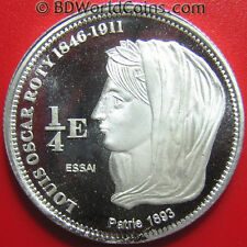 2004 SAINT BARTHELEMY 1/4 EURO SILVER PROOF ESSAI OSCAR ROTY 27mm RARE M=2,000