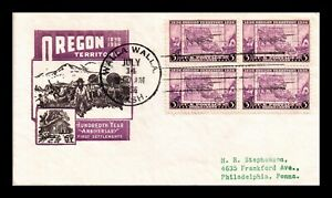 DR JIM STAMPS US OREGON TERRITORY CENTENNIAL FIRST DAY COVER SCOTT 783 BLOCK