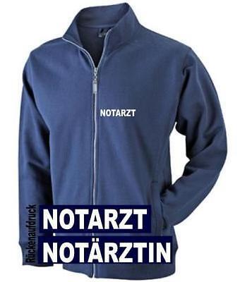 und Rückenaufdruck reflex* Hemd navy mit Brust Notärztin T-Shirt Notarzt