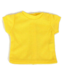 Bright Yellow T-Shirt fits American Girl Dolls 18 inch Doll Clothes Short Sleeve