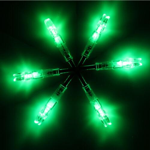 6.2mm For Compound Bow 6Pcs//Pack 2 Packs Green LED Lighted Nock I.D