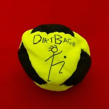 Dirtbag 8 Panel Hacky Sack Neon Yellow Black Kick Ball Sand Filled Footbag