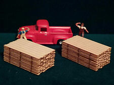 "2 HO Scale 2"" x 12"" x 12ft Lumber Yard Stacks Loads Stickered Boards Planks"