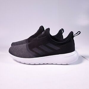 Details about adidas Women's Lite Racer Slip-On Sneakers F36675 Black/Grey/White