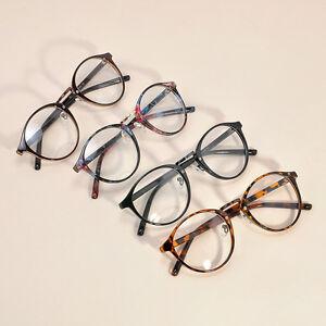 78c0e1072ab9 Unisex Men Women Retro Chic Eyeglasses Frame Retro Round Nerd Clear ...