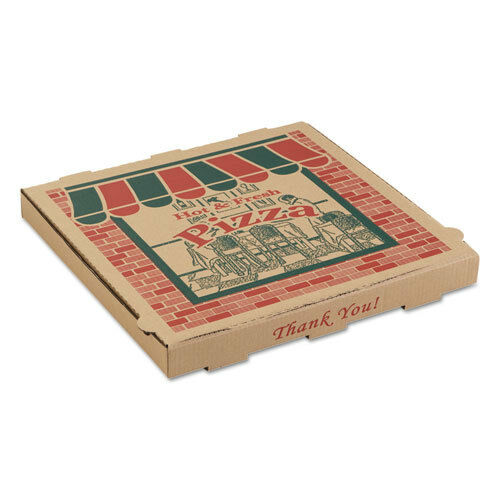 ARVCO Corrugated Pizza Boxes 14w x 14d x 1 3//4h Kraft 9144314
