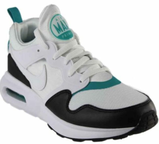 Nike Air Max Prime Mens 876068 103 White Black Turbo Green Running Shoes Size 8