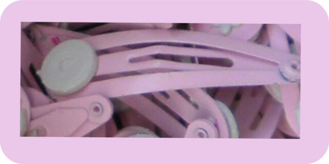 25  Pink Hair Clip Slide Bobby Pin 13.5mm x 50 mm with Pad