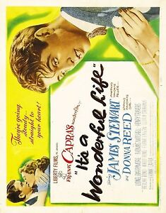 IT/'S A WONDERFUL LIFE Movie Poster 1942 Christmas