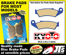 FRONT SET OF DISC BRAKE PADS TO SUIT HONDA XR600 XR600 RJ RK RL RM (88-91)