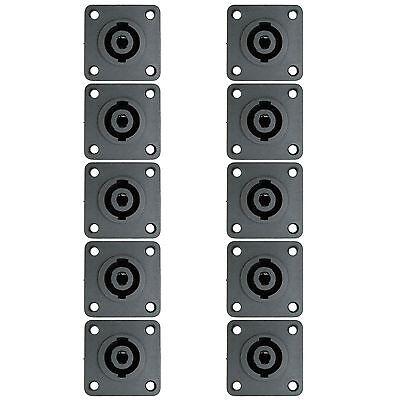 10 pack SPEAKON Compatible PANEL BOX SURFACE MOUNT Flush Speaker CONNECTORS
