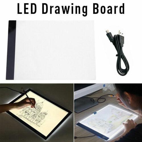 A4 LED Artista Plantilla Placa Tablero Luz Trazos Mesa de Dibujo Drawing Board