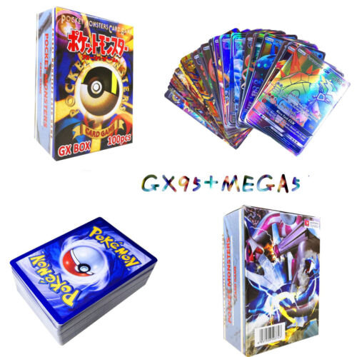 20//100//120//200PCS GX EX MEGA Pokemon Cards Holo Trading Flash Card Game Gift Lot