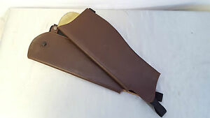 Saddle Craft Brown Leather Gaiters LongshortNarrowWidestandard  41cm  47cm - llantrisant, Rhondda Cynon Taff, United Kingdom - Goods can be returned for a refund less p&p, providing that they are returned to us within 14 days, in as sold condition with all labels/packaging. We also offer an exchange service should the item not fit - llantrisant, Rhondda Cynon Taff, United Kingdom