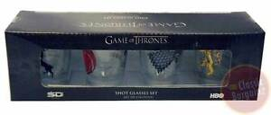 Game-of-Thrones-Shot-Glasses-Set-of-4-Glass-NEW-Stark-Targaryen-Lannister-HBO