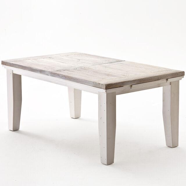 Wimö Esstisch Opum In weiß Recycle Kiefer Massivholz 180 220 X 105cm günstig kaufen   eBay