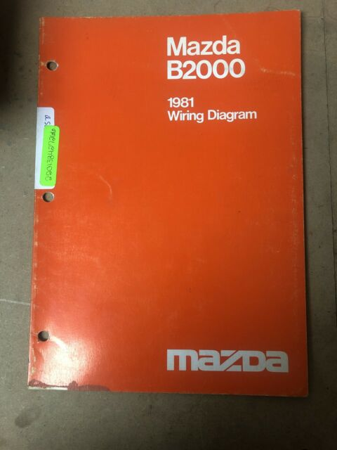 1981 Mazda B2000 Wiring Diagrams Service Shop Repair